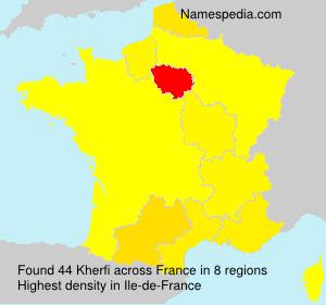 Surname Kherfi in France