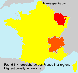 Surname Kherrouche in France