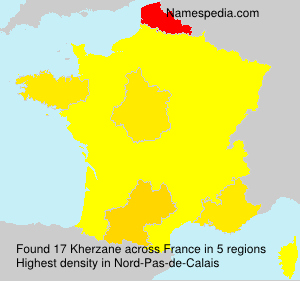 Surname Kherzane in France