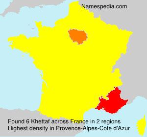 Familiennamen Khettaf - France