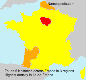 Surname Khineche in France