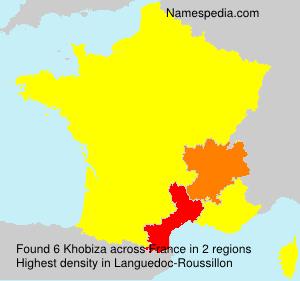Surname Khobiza in France