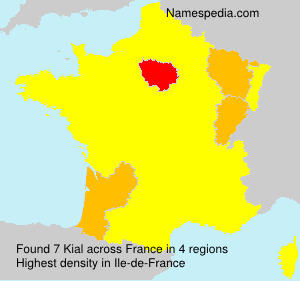 Surname Kial in France