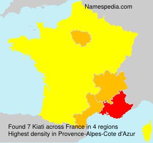 Surname Kiati in France