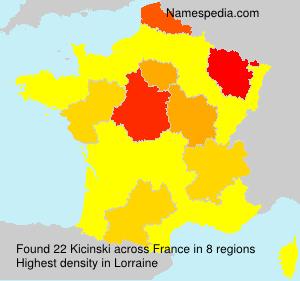 Surname Kicinski in France