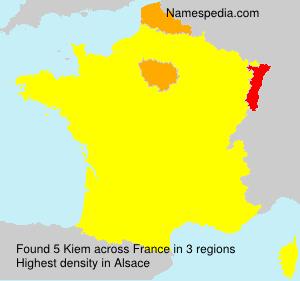 Surname Kiem in France