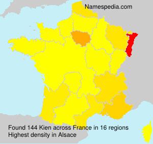Surname Kien in France