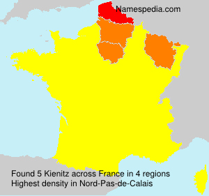 Surname Kienitz in France