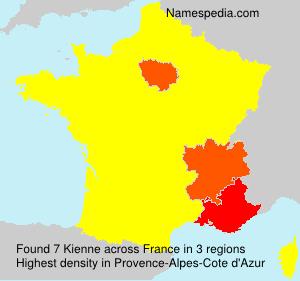 Surname Kienne in France
