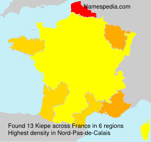 Surname Kiepe in France