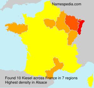 Surname Kiesel in France