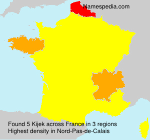 Familiennamen Kijek - France