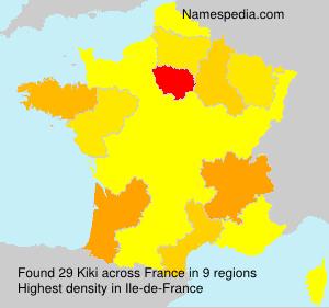 Surname Kiki in France