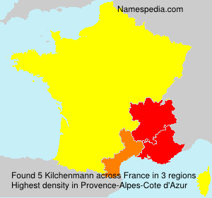 Surname Kilchenmann in France