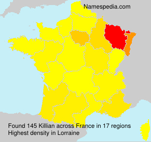 Surname Killian in France