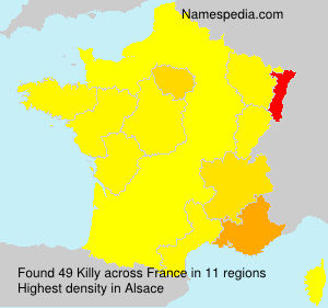Surname Killy in France