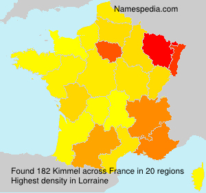 Surname Kimmel in France