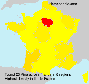 Surname Kina in France