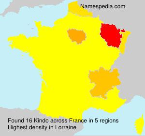 Surname Kindo in France