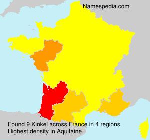 Familiennamen Kinkel - France