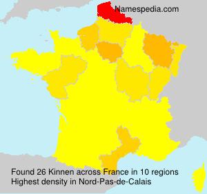Surname Kinnen in France