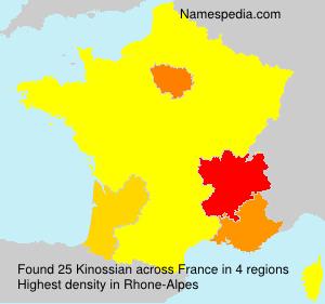 Surname Kinossian in France