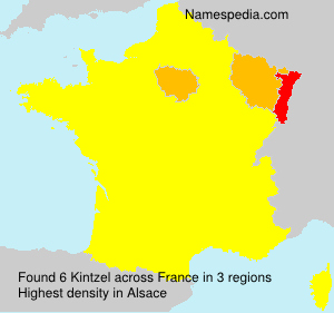 Surname Kintzel in France