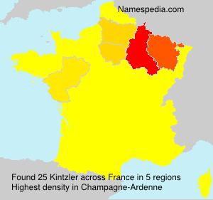 Familiennamen Kintzler - France
