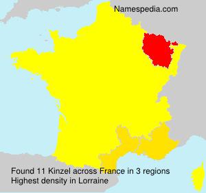 Surname Kinzel in France