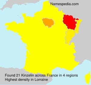 Surname Kinzelin in France