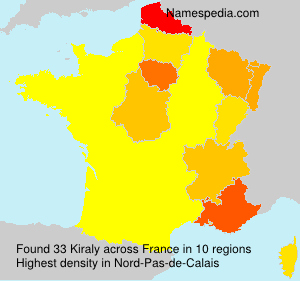 Surname Kiraly in France