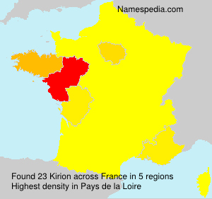 Surname Kirion in France
