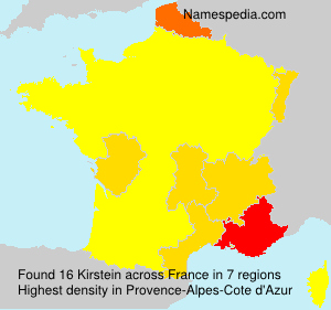 Surname Kirstein in France