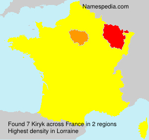 Surname Kiryk in France