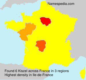 Familiennamen Kiszel - France