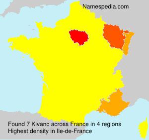 Surname Kivanc in France