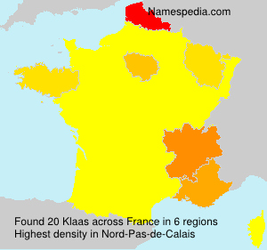 Surname Klaas in France