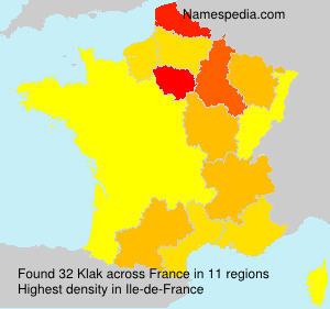Surname Klak in France