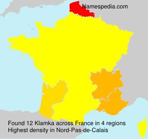 Familiennamen Klamka - France