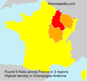 Surname Klata in France