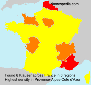 Surname Klauser in France