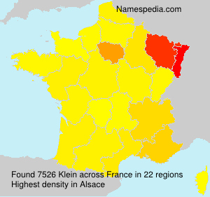 Surname Klein in France