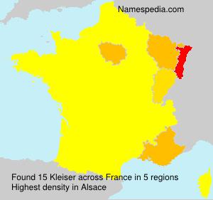 Surname Kleiser in France