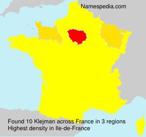 Surname Klejman in France