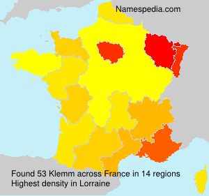 Surname Klemm in France