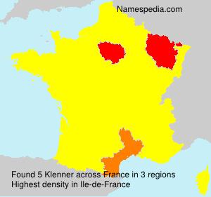 Familiennamen Klenner - France