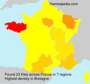 Familiennamen Kles - France