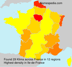 Familiennamen Klima - France