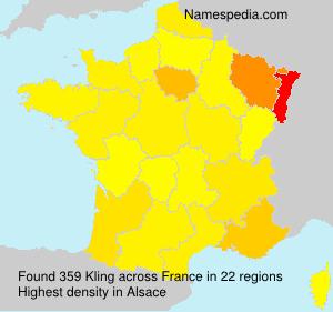 Familiennamen Kling - France
