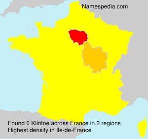 Surname Klintoe in France